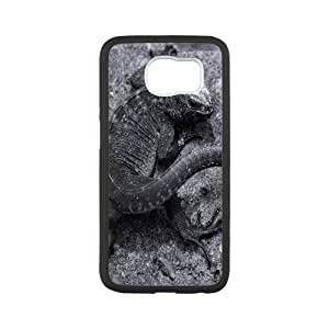 Samsung Galaxy S6 Case Lava Lizard Cheap for Boys, Luxury Samsung Galaxy S6 Edge Case Tyquin, [White]