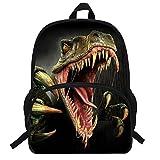 VEEWOW 16-Inch Popular Animal Print Monster Dinosaur Backpack For Teen Boys School Bag For Kids (D944)