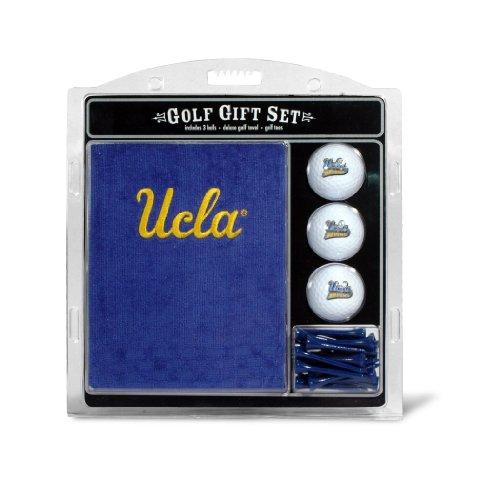 Ucla Bruins Ncaa Pattern - Team Golf NCAA UCLA Bruins Gift Set Embroidered Golf Towel, 3 Golf Balls, and 14 Golf Tees 2-3/4