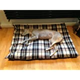 KosiPet® CREAM & BROWN CHECK Fleece EXTRA LARGE SPARE COVER For Dog Bed,Dog Beds,Pet Bed,Dogbed,Dogbeds,Petbed,Petbeds,