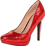 cole haan tango red - Cole Haan Women's Chelsea High Pump Tango Red Sequins 7.5 B - Medium