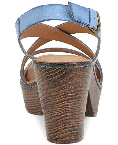 Born - Sandalias de vestir para mujer Sea Blue