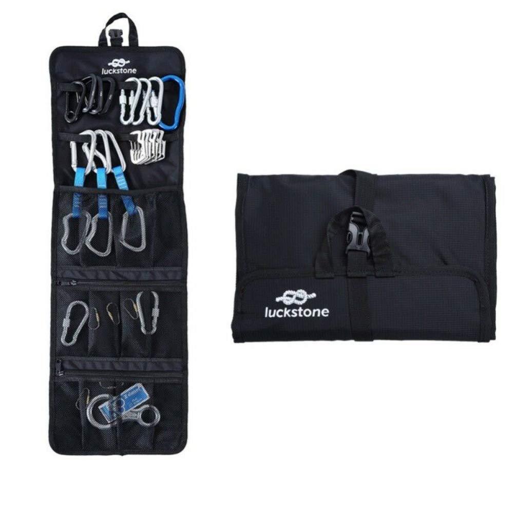 bolsa de almacenamiento para colgar Walkretynbe equipo de escalada y senderismo azul cuerda de escalada plegable para exteriores mosquet/ón