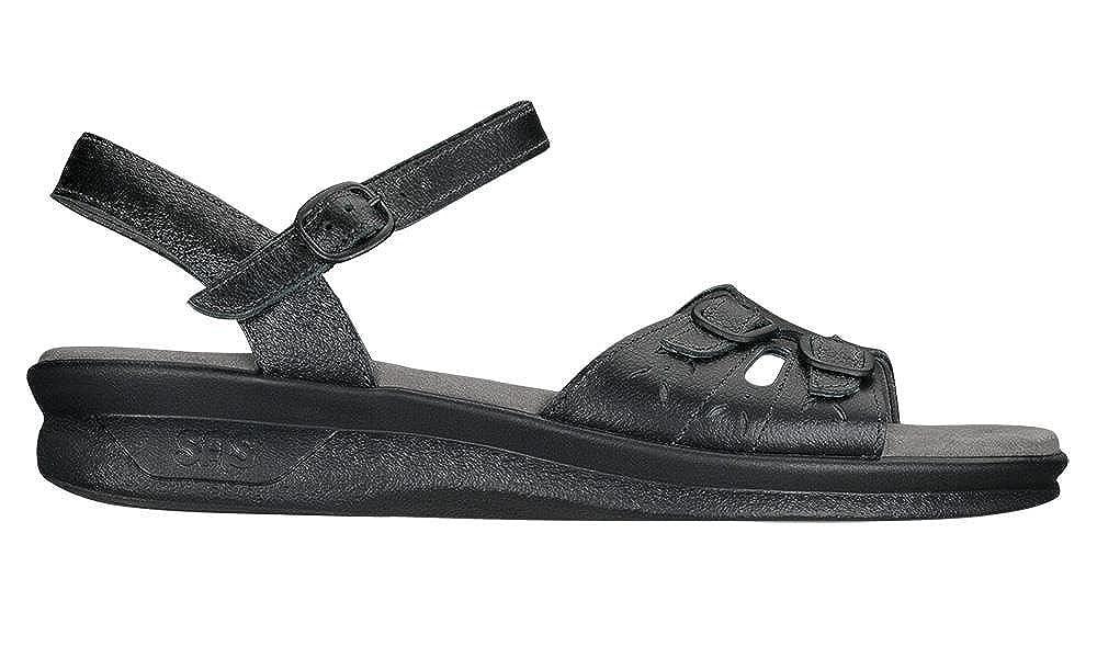 SAS Womens Duo Open Toe Casual Slingback Sandals, Black, Size 8.0 B018UA1O8S Parent