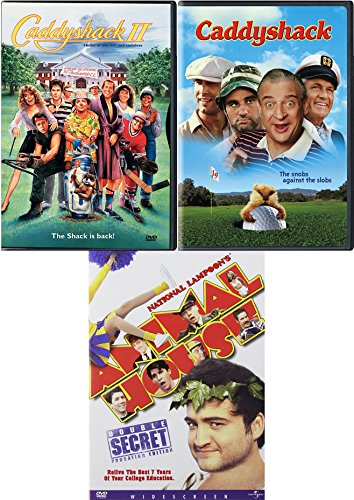 College Golf Comedy Triple Feature Funny Pack: Caddyshack / Caddy Shack 2 / National Lampoons Animal House 3 Movie Bundle