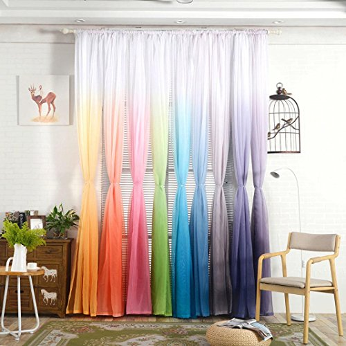 Wensltd Clearance! 1 PC Hook Tulle Door Window Curtain Drape Panel Sheer (Wash Sheer Curtains)