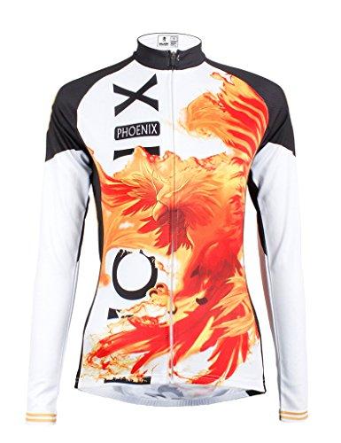 Thermal Mens Shirt Phoenix - LAOYOU Phoenix Womens Long Sleeve Cycling Jersey Bike Clothes Bike Jersey Bike Apparel Bicycle Clothing Cycling Apparel Bicycle Apparel Riding Clothing Size XL