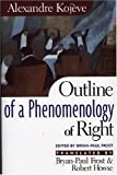 Outline of a Phenomenology of Right, Alexandre Kojeve, 0847689220