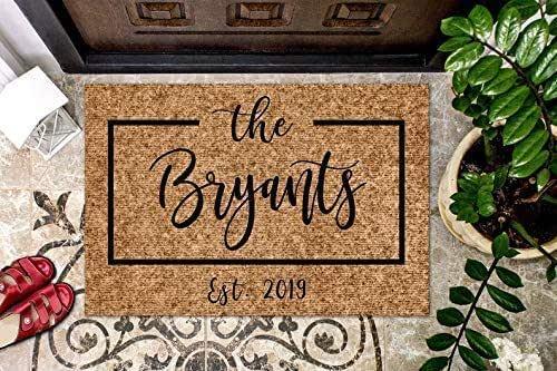 Custom Doormat Housewarming Gift German Wirehaired Pointer Dog Welcome Mat Closing Gift Last Name Door Mat Personalized Doormat
