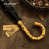 OLYCAT Big Bamboo Umbrella Rain 8K Windproof Semi