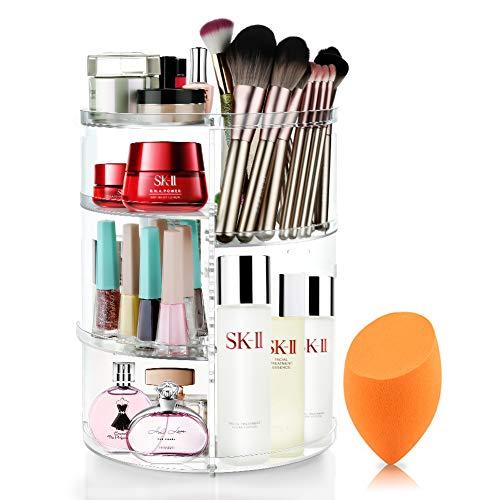 Mokaro 360 Degree Rotating Makeup Organizer for Mothers Day Gifts Extra Large Capacity Adjustable Multifunctional…