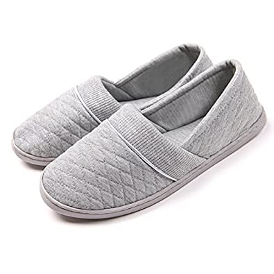 Amazon.com | ChicNChic Women Comfort Cotton Soft Sole Indoor ...