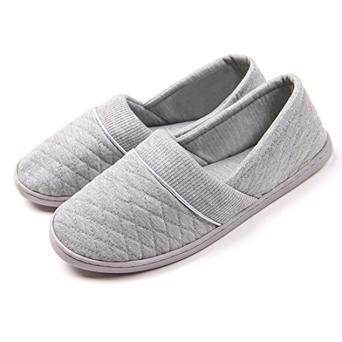 ChicNChic+Women+Comfort+Cotton+Soft+Sole+Indoor+Slippers+Anti-slip+House+Shoes+Grey+8+B%28M%29US+%28Large%29