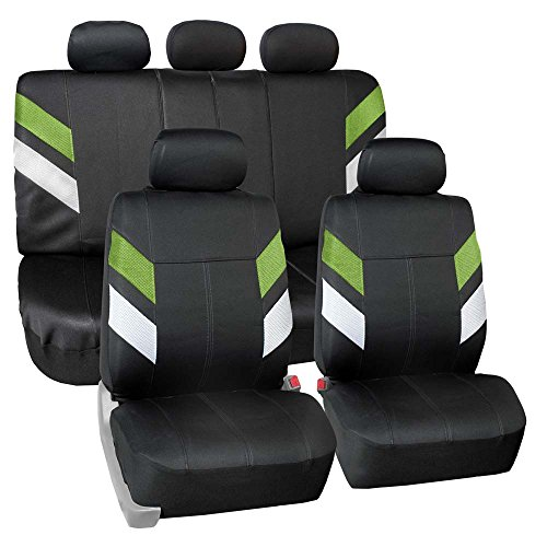 - FH Group FB086115 Modern Edge Neoprene Seat Covers, Airbag & Split Ready, Green/Black Color
