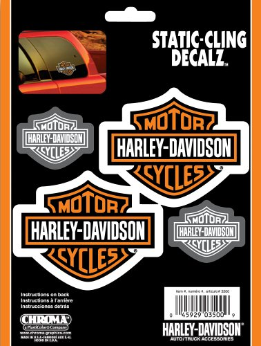 Harley Davidson Static Cling Decal (Chroma Graphics Static Cling)