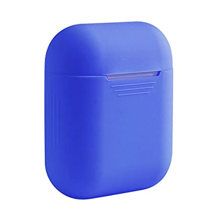 Pouybie Caja de Airpods Cubiertas Protectoras el Estuche Compatible con Apple AirPods Carcasa de Silicona Funda de Silicona para Auriculares Bluetooth ...