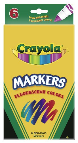 Crayola 6ct Fluorescent Colors Conical