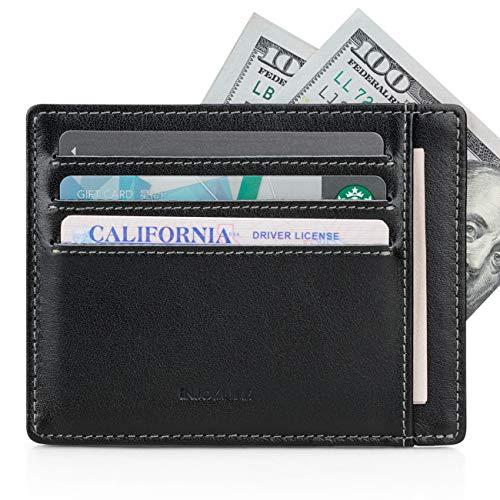 INJOYLIFE Front Pocket Slim Minimalist Front Pocket Leather Wallets for Men