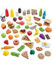 KidKraft 63510 65-delige doen-alsof etenswarenspeelset, kookaccessoires voor speelgoedkeukens