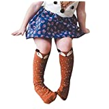 Tenworld 1-3 Years Toddlers Kids Girls Fox Pattern Knee High Socks