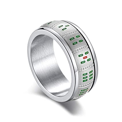 Amazon com: Titanium Steel Spinner Rings,9mm Wide Classic Mahjong