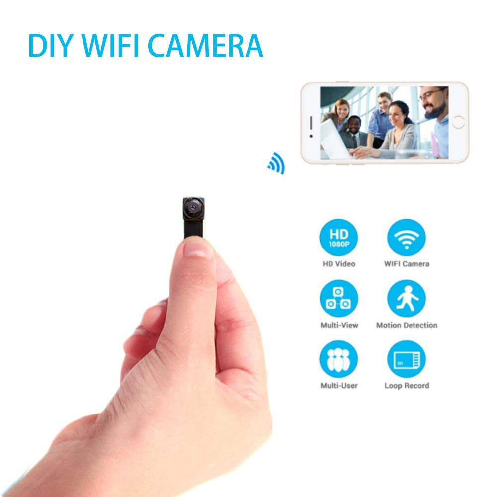 Spy Camera Mini Hidden Camera 720P Wireless WiFi Nanny Cam Indoor/Outdoor Portable Home Security Camera Motion Detection Loop Recording by Generic