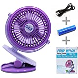 YOYOTECH Strong Wind Mini Fan Clip Cooling Car Fan Powerful Quiet Table Fans Desk Fan for Stroller Home Office Dormitory Bedroom