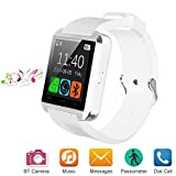 Bluetooth Smart Watch for Android iOS Smartphone, Letopro U8 Smartwatch with Pedometer Remote Camera Music Player Calls Reminder for Men Women Kids Children , Smart Wrist Watch with Touch Screen for iPhone Samsung Huawei(White)