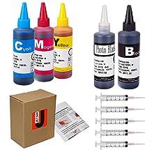 JetSir Four Colors Compatible Ink Refil Kit for HP,Refill Dye Ink for hp 950/951 564 932/933 920 940 etc Inkjet Cartridge-Black/Cyan/Magenta/Yellow 100ml