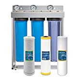 Express Water Whole House Water Filter System Carbon KDF Sediment 3 Stage Filtration 4.5'' x 20'' Inch