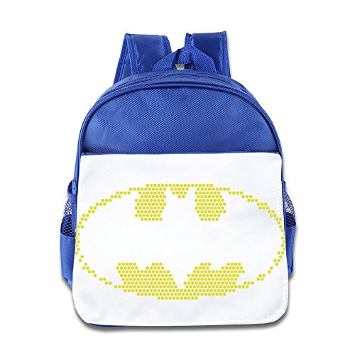 Hello-Robott Lite-Brite Bat Emblem Card School Bag Backpack RoyalBlue -