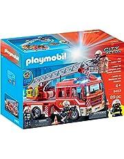 Playmobil- Camión de Bomberos con Escalera Juguete, (geobra Brandstätter 9463)