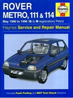 rover metro and 100 series service and repair manual (haynes service and  repair manuals)