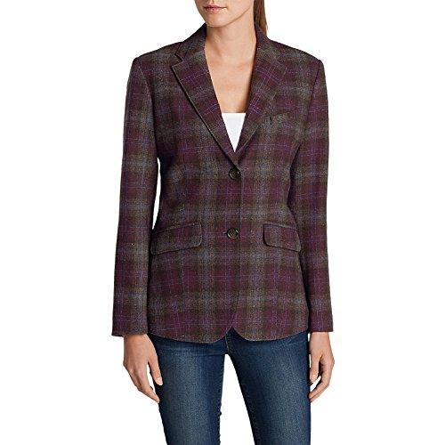Eddie Bauer Women's Classic Wool-Blend Blazer - Pattern, Claret 10 Blend Blazer