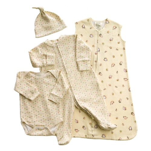 HALO 4-Piece Organic Layette Set - Tea Cup, Small by Halo Innovations