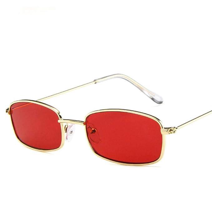 WHAELI Gafas de sol redondas rectangulares de diseño retro ...