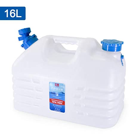 5L// 8L Car Portable Handheld Water Container PC Outdoor Large Water Container Self-Driving Trip Water Bucket with Faucet Camping Square Barrel Plastic Storage Bucket