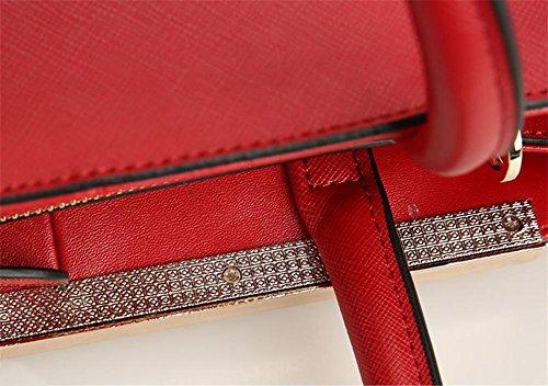 Pattern Handbag Ladies Shoulder Bag Yanx Madam Fashion 28 16cm Cross 38 Tote Blue tRUpq