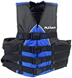 Flowt 40401-2-L/XL Extreme Sport Life Vest, Type III PFD, Closed Sides, Blue, Large/Extra Large, Fits Chest Sizes 40'' - 50''