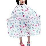 Colorfulife Child Hair Cutting Waterproof Cape Barber Kids Hair Styling Cloth with Snap Closure Professional Home Salon Hairdressing Wrap Bubble Mouse Pattern B004(White Bubble)