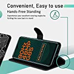 Knotyy Faux Leather Flip Cover for Infinix Hot 10s with Foldable Stand & Cards Slots – Black