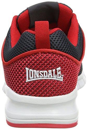 Lonsdale Sivas - Zapatillas de running Niños Grey (Charcoal/Red)