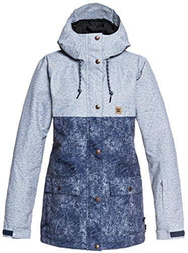- DC Apparel Women's Cruiser Snow Jacket, Dark Blue Acid wash Denim a, XS