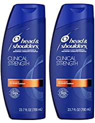 Head & Shoulders Head and Shoulders Clinical Strength Dandruff and Seborrheic Dermatitis Shampoo, 23.7 Fl Oz Twin Pack, 23.7 Fluid Ounce