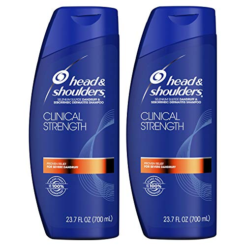 Head and Shoulders, Shampoo, Anti Dandruff, Clinical Strength Seborrheic Dermatitis Treatment, 23.7 fl oz, Twin Pack