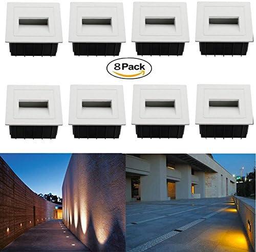 FVTLED 8 Pack 3W AC 85-265V LED Corner Wall Lamp Wall Plinth Lights Embedded LED Stairs Step Night Pathway Hall Corner Lighting Footlight