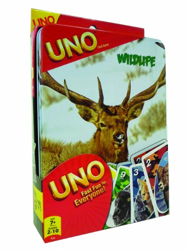 Wildlife UNO Tin Card Game