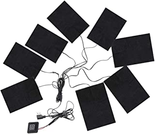 perfecthome 8-in-1 Cuscinetti Riscaldanti Elettrici USB Cuscinetti Riscaldanti in Fibra di Carbonio Cuscinetti Riscaldanti Elettrici 3-Shift Caldo Comodo