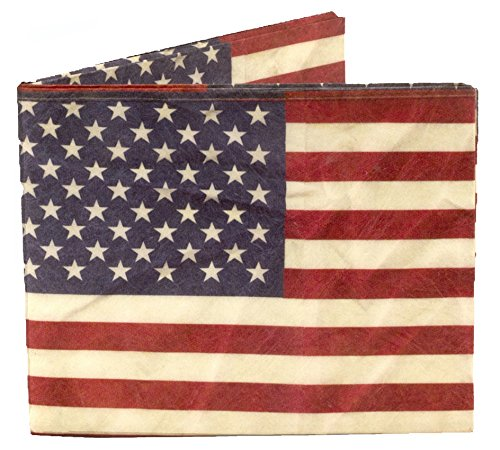 Dynomighty Men's US Flag Mighty Wallet - Super Thin Lightweight Tyvek Billfold
