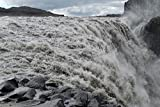 Home Comforts Peel-n-Stick Poster of Power Waterfall Dettifoss Amount of Water Poster 24X16 Adhesive Sticker Poster Print